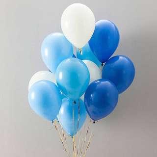 "12"" Blue Balloons"