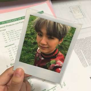 bts suga/ yoongi young forever polaroid/ photocard