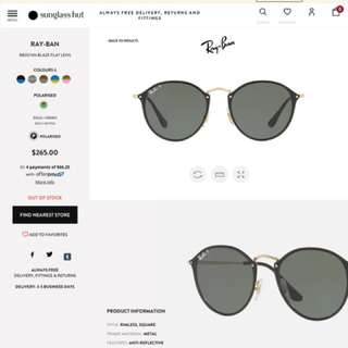 BRAND NEW AUTHENTIC Ray Ban Polarised Sunglasses