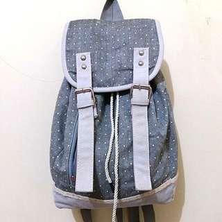 Grey Polkadot Backpack