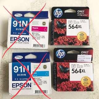 Photo/Ink Cartridges HP Epson