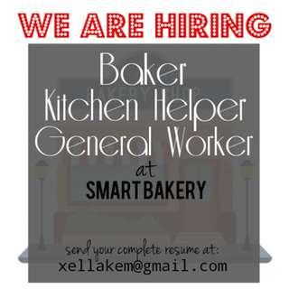 Baker, kitchen helper & general worker wanted in Klang area