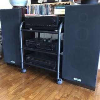Onkyo Bass Reflex Speaker System S22 (Made in Japan)