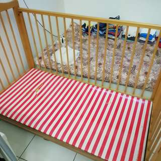 Baby Cot with side cushion