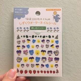 [購自日本]花指甲貼紙