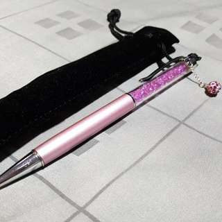 BN pink crystal pen