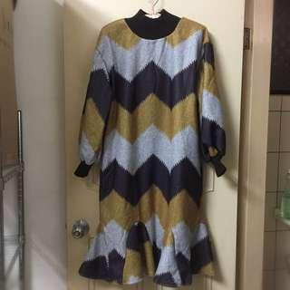 🚚 橫條紋魚尾裙