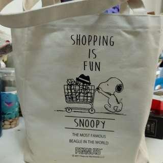 史露比Snoopy硬身帆布購物袋