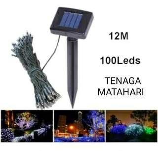 lampu hias taman solar dgn panjang 12 meter
