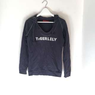 Navy Tigerlily jumper with hood