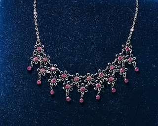 復古維多利亞式紫色頸鍊 (可配晚裝)