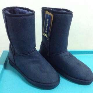 韓國Ollie雪靴 (深藍色)24號