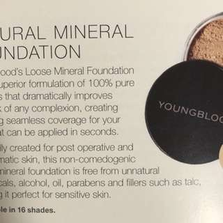 Youngblood powder foundation 10 colours