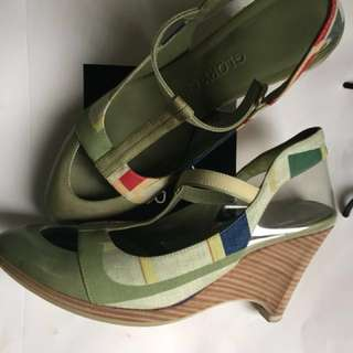 Comfortable fashion wedge shoes for women multicolor design