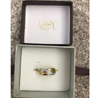 Angus & Coote Silver & Gold Ring