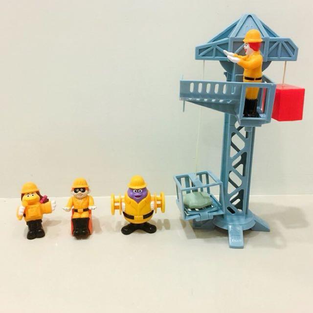 2000年麥當勞工程隊 麥當勞老玩具 三隻