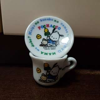 Ceramic Material Pochacco Mini Cup and Saucer