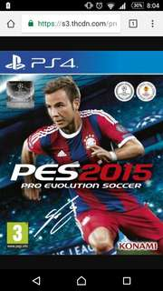 PS4 game PES 2015