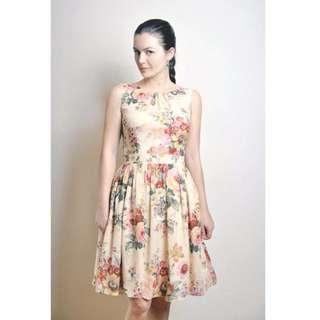 Floral dress 100% cotton voile