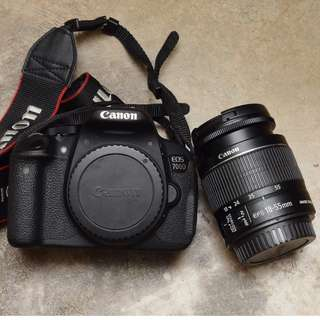 Canon EOS 700D + Canon EF-S 18-55mm IS