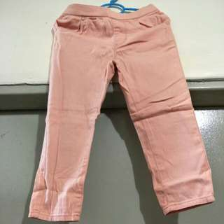 For sale preloved Peach Long Pants