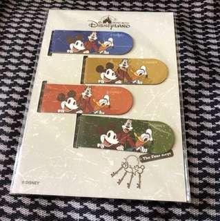 香港迪士尼樂園4 Keys磁石書籤(包郵)