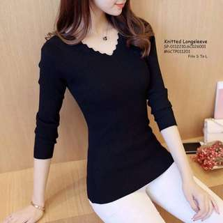 Knitted longsleeve fits S-L