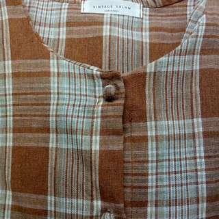 氣質可愛古著格子襯衫
