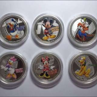 30% OFF CNY SALE {Collectibles Item - Fine Silver Coin} 2015 NEW ZEALAND ELIZABETH II DISNEY 1 OZ 999 Fine Silver Coin - GOOFY, PLUTO, MICKEY MOUSE, MINNIE MOUSE, DONALD DUCK & DAISY DUCK (No Box No Certificate Of Authentication)