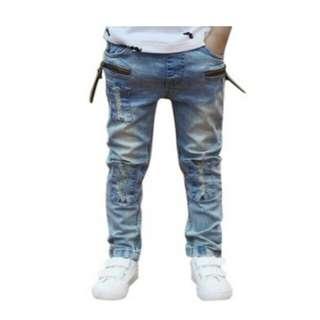 Ripped jeans boy pants