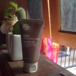The face shop jeju volcanic pore nose clay mask