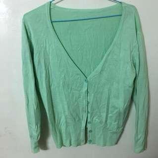 薄荷綠針織外套
