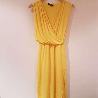 Sheike Bulgari Maxi Dress Yellow Size 6