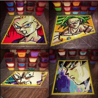 Hama Beads Design BIG Dragon Ball Z