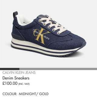 Calvin Klein Tulia Denim 鞋 37號