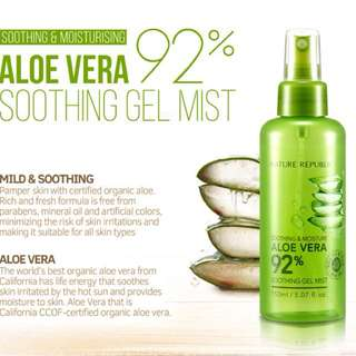 Nature Republic Aloe Vera Soothing Gel Mist