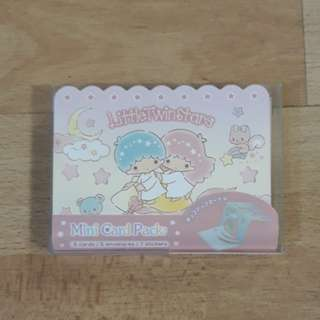 Little Twin Stars Mini Card Pack