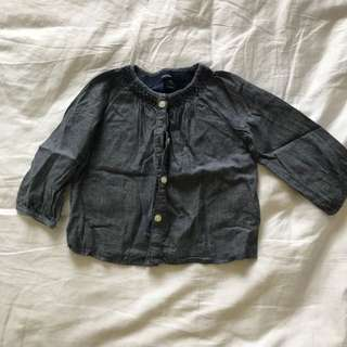 Baby girl denim blouse