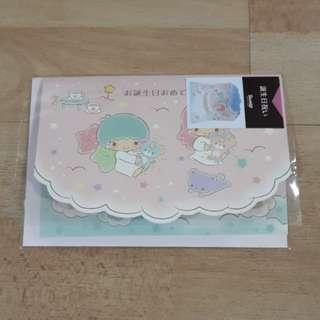 Little Twin Stars 3D Birthday Card