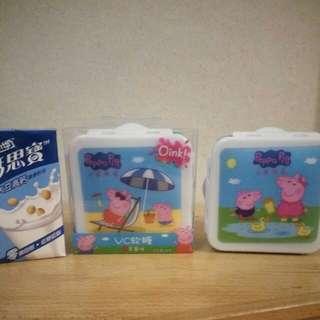 Peppa  Pig  小猪佩奇  食物盒 盒子一個15