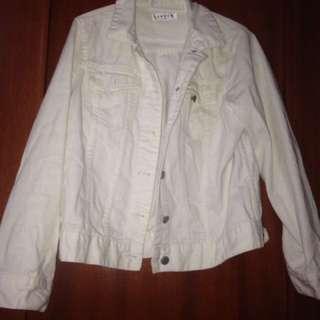 Jaket jeans putih