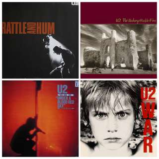 In stock clearance vg+ U2 albums record vinyls war rattle blood red rock pop