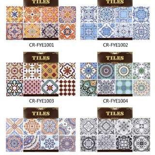 Tile sticker 摩洛哥風格歐式幾何圖形牆貼紙 (30CMx30CM)