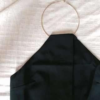teal high neck dress