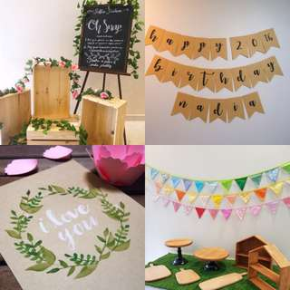Rustic theme party decor