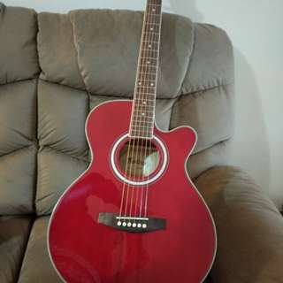 Monterey MA-15TWR Acoustic Guitar (Wine Red)