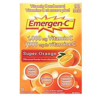 (1盒90小包) Emergen-C (1000mg) 維他命C沖劑 (橙味)