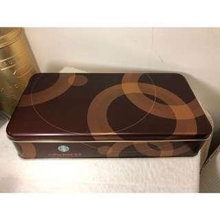 🚚 星巴克餅乾鐵盒 收藏盒 (付星巴克手提紙袋)