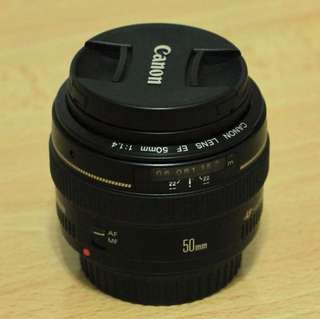 Canon lens 50mm f1.4