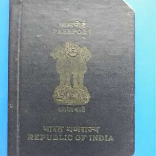 Vintage INDIA PASSPORT issued in Saigon, Vietnam 1966 for Collection